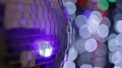Disco ball light effect Stock Footage