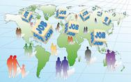 Unemployment and employment Stock Illustration