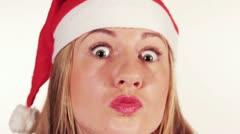 christmas girl - stock footage