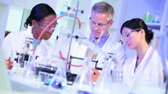 Research Assistants Supervised in Hospital Laboratory Stock Footage