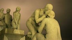 Sculpture Park Vigeland Oslo 4K night timelapse Stock Footage