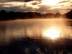 Sunset On Nature.JPG - stock photo