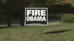 Anti Obama sign - stock footage