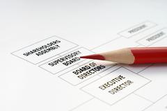 organization chart - stock photo