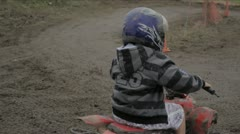 Kids Riding Quad bikes - stock footage
