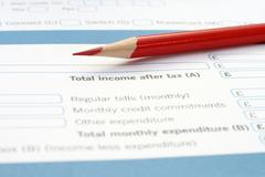 income form - stock photo
