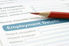 Stock Photo of employment form