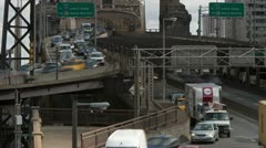 4K New York City Queensboro Bridge Traffic Timelapse 4 Stock Footage