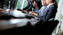 Financial Trading Team Reviewing Performances Stock Footage