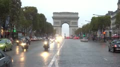 Arc de Triomphe The Avenue des Champs-Élysées  Paris, France Stock Footage