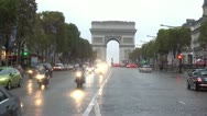 Stock Video Footage of Arc de Triomphe The Avenue des Champs-Élysées  Paris, France