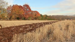 Plowing the field _2 Stock Footage