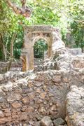 gede ruins - stock photo