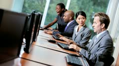Team Financial Traders Receiving Manager Support - stock footage