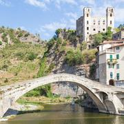 Dolceacqua medieval castle Stock Photos