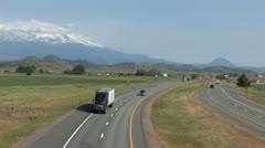 1440 HWY 5 Freeway Traffic 3 Stock Footage