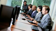 Ambitious Multi Ethnic Team Share Traders - stock footage