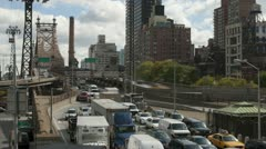 New York City Queensboro Bridge Traffic Timelapse 1 Stock Footage