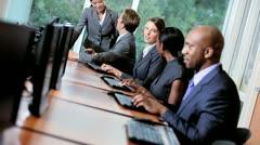 Multi Ethnic Team Receiving Sales Targets Stock Footage