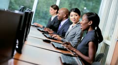 Multi Ethnic Team Receiving Sales Targets - stock footage