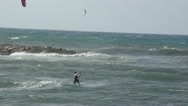 Kite surfing in Tel Aviv Stock Footage