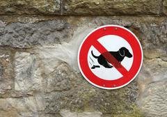 Stock Photo of dog shit sign