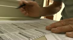 Voting Booth - stock footage
