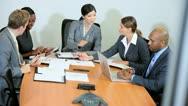 Multi Ethnic Business Team Meeting  Stock Footage