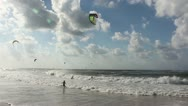 Kite-surfing Tel Aviv Stock Footage