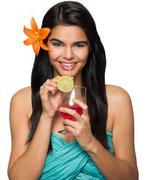 Tropical Girl Stock Photos