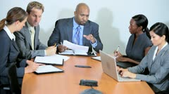 Multi Ethnic Business Team Hearing Bad News Stock Footage