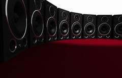 Massive Audio Speaker Wall - stock illustration
