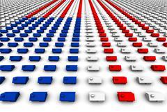 Hundreds Of Houses Form Usa Flag Stock Illustration