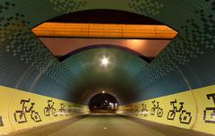 Stock Photo of tunnel for bicycles