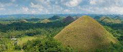 chocolate hills, philippines - stock photo