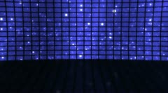 Stage Set Blue Particles Loop Stock Footage