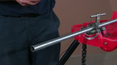TRIPOD CHAIN VISE 6 Stock Footage