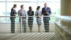 Multi ethnic business team Stock Footage