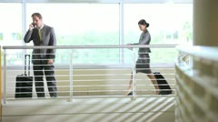 Multi ethnic business travellers - stock footage