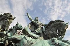 Civil war soldier statue Stock Photos