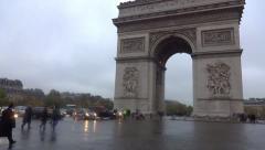 Arc de Triomphe  Avenue des Champs-Élysées  Paris, France ceremony Stock Footage