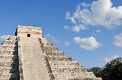 chichen itza mexico mayan ruins - stock photo