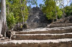 Coba mayan ruins in mexico Stock Photos