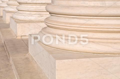 Stock photo of pillars of law and justice us supreme court