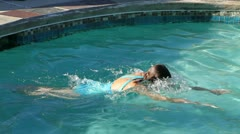 Exercise Swimming Breaststroke - stock footage