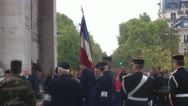 Stock Video Footage of ceremony at Arc de Triomphe  Avenue des Champs-Élysées  Paris, France