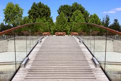 Stock Photo of pedestrian bridge