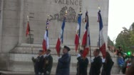 Stock Video Footage of Arc de Triomphe  Avenue des Champs-Élysées  Paris, France October veterans