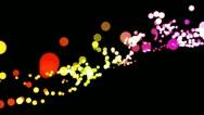 Luminous bokeh background loop Stock Footage