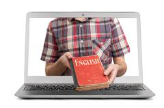 E-learning english Stock Photos